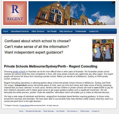 Regent Consulting - Best Private Schools Sydney Perth Melbourne Consulting Services - Education Directory