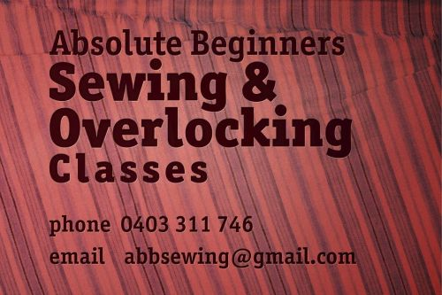 Absolute Beginners Sewing and Overlocking Classes - Education Directory